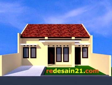 Desain Rumah Sederhana Minimalis Type 60 - depan