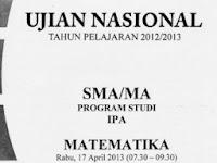 Download 21 Paket Soal UN Matematika SMA IPA 2013