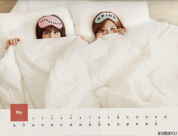 Apink calendar 2015 scans Chorong, Eunji