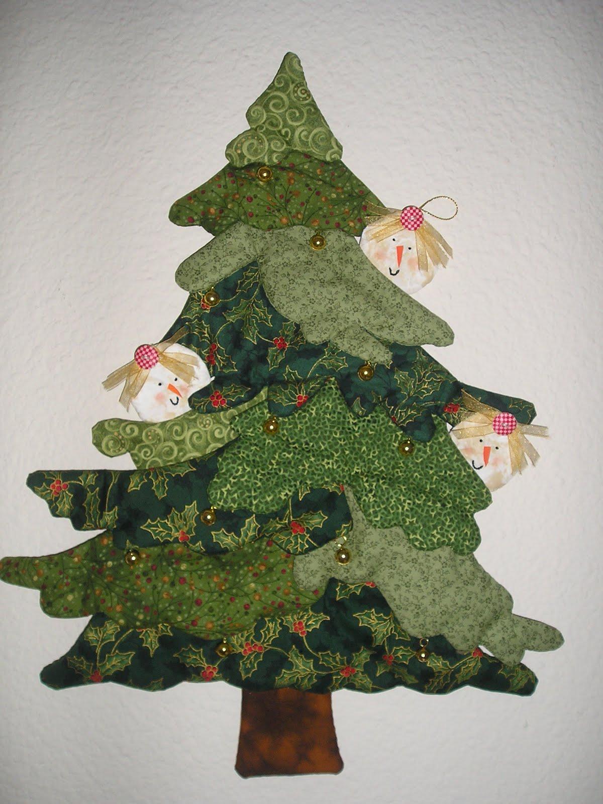 Jard n de patchwork de manoli rbol de navidad - Arbol de navidad artesanal ...