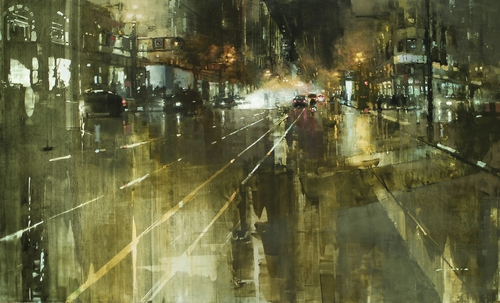 24-The-Market-St.-Steamvent-Jeremy-Mann-Figurative-Painting-in-Cityscapes-Oil-Paintings-www-designstack-co