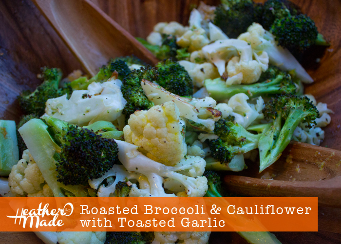 Roasted Broccoli &amp; Cauliflower with Toasted Garlic Recipe