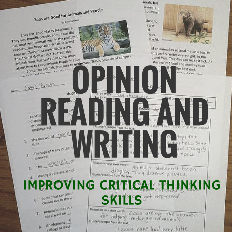 writing and critical thinking skills The process of using critical thinking to guide writing is called critical writing observations developing our critical thinking skills, therefore.