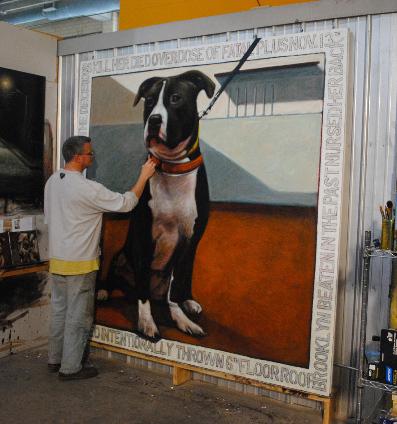 Mark pintando Oreo (Foto: Huffington Post)