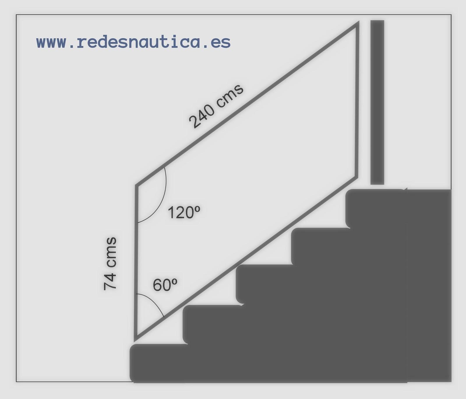 Redes n utica red de protecci n para escaleras tutorial for Como calcular una escalera