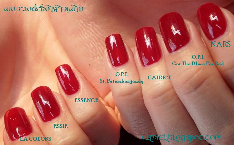 Did someone say nail polish?: Red comparison week - 7th day: blood ...