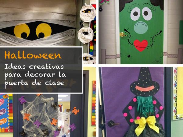 Ideas para halloween for Puertas de halloween decoradas