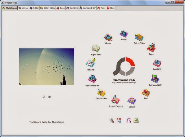Photoscape 3.6.5 - Foto Editor Terlengkap
