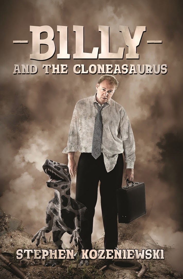 http://www.amazon.com/Billy-Cloneasaurus-Stephen-Kozeniewski-ebook/dp/B00L7RXG6U/ref=sr_1_1?s=books&ie=UTF8&qid=1404653374&sr=1-1&keywords=dystopian+fiction