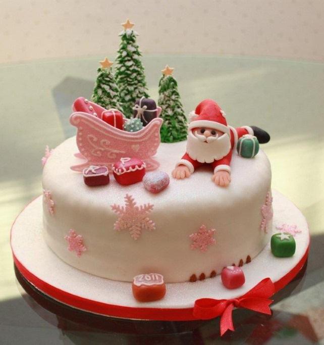 Pinterest Cakes Fondan De Navidad