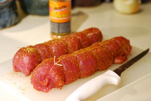 tied pork tenderloin,
