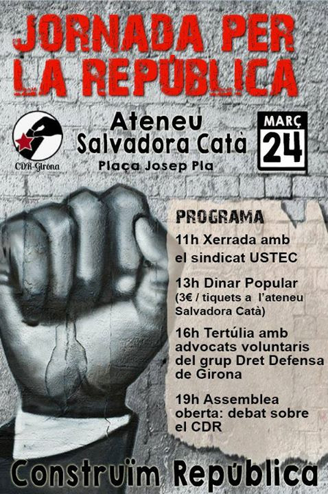 Jornada per la República a l'Ateneu Popular Salvadora Catà