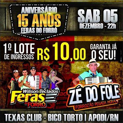 ANIVERSÁRIO DO FERAS DO FORRÓ!!!