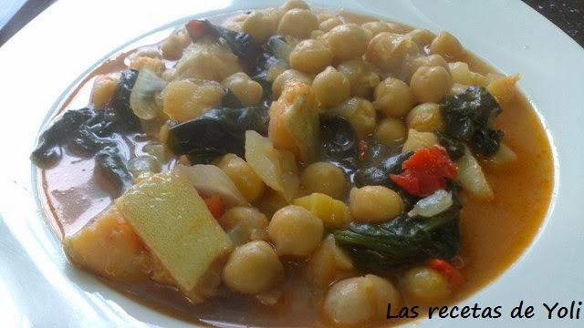Las recetas de yoli garbanzos con bacalao y espinacas - Garbanzos espinacas bacalao ...