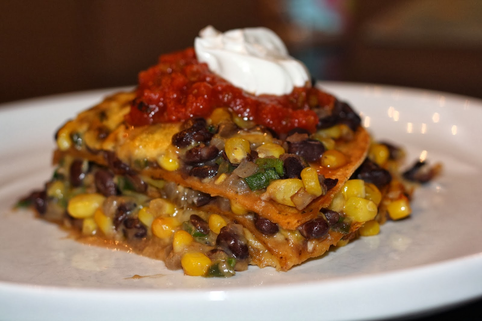 what's for dinner?: tortilla and black bean pie... 1 hour