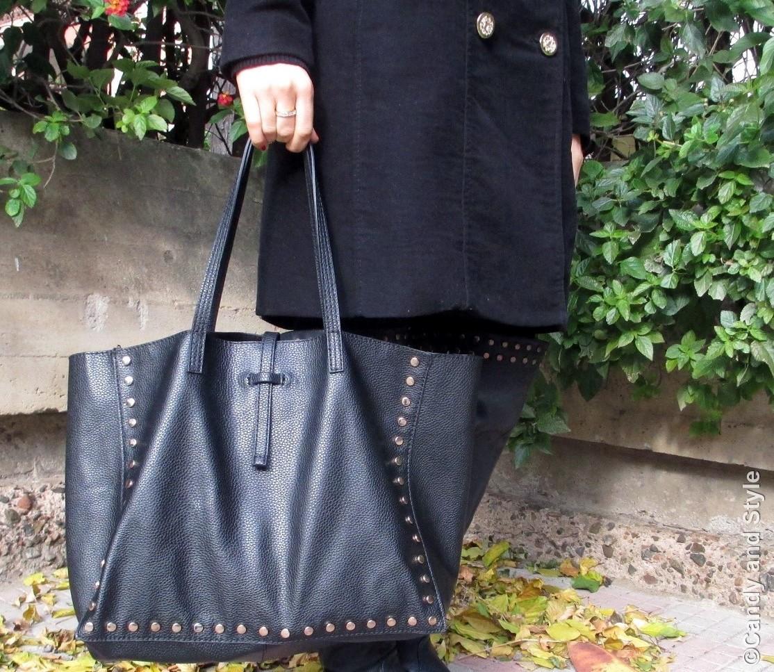 Studded Tote Bag - Details