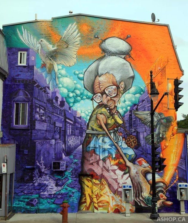 The Best Examples Of Street Art In 2012 And 2013 - ASHOP - Mural Festival in Montreal, Canada
