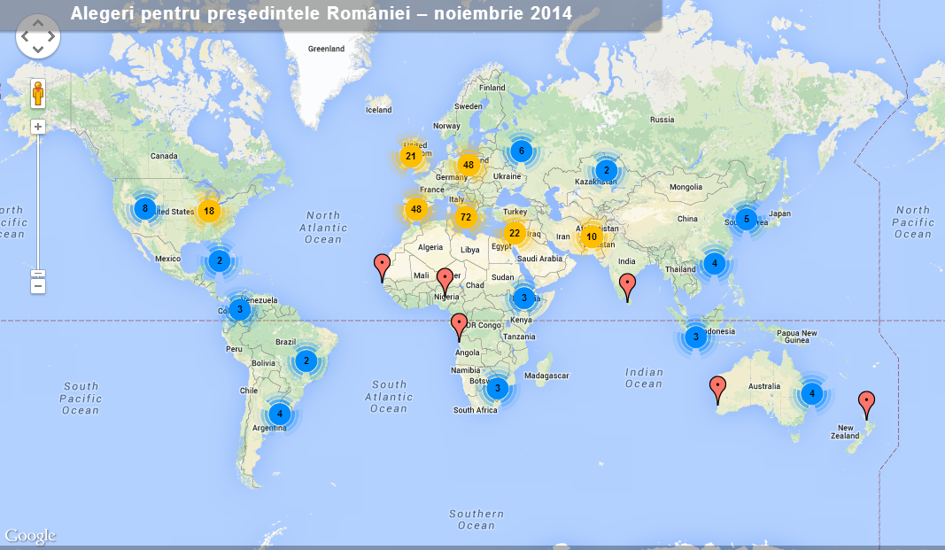 harta secțiilor de votare 2014