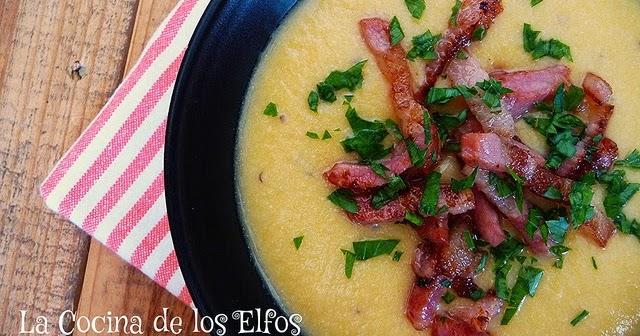 La cocina de los elfos crema de coliflor y cheddar de for Cocina de jamie oliver