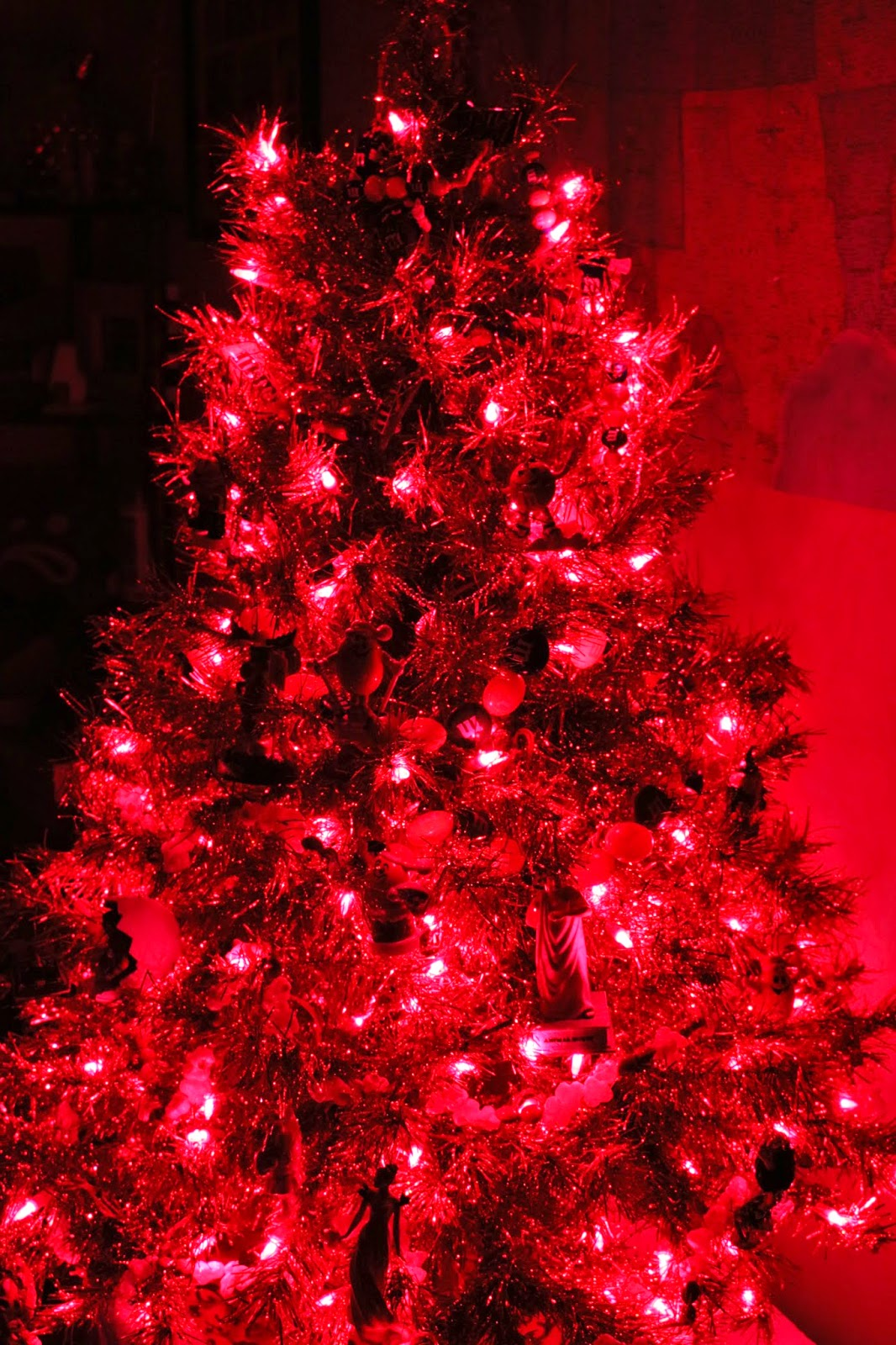 Crazy shenanigans the red movie christmas tree