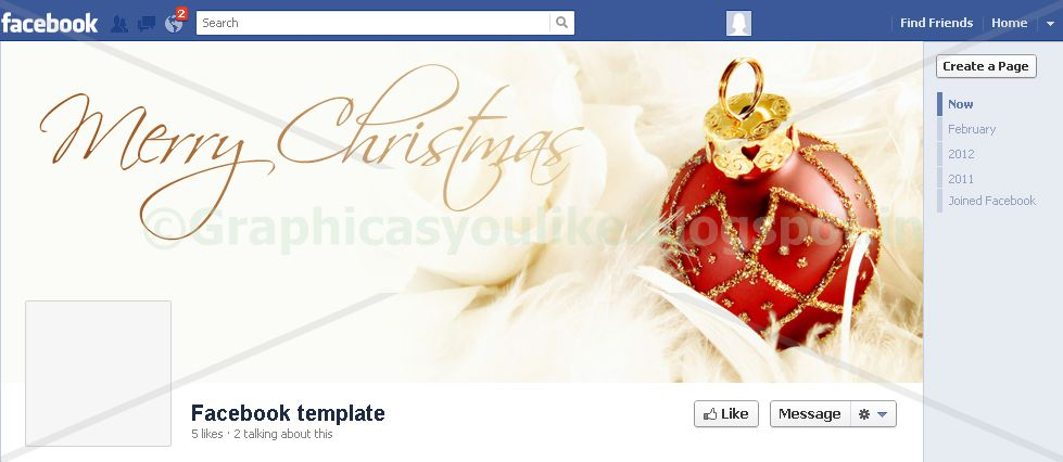 For any graphic item as per your choice make your for Holiday themed facebook cover photos