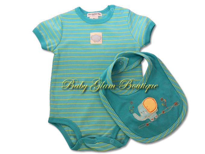 Baju Baby Glam SALE Item! Set Rompers + Bib Murah!