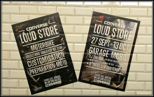 Converse loud store le Marais motorbike customisation motos, loud store Converse tattoo tatouage l'encrier rue Montorgueil