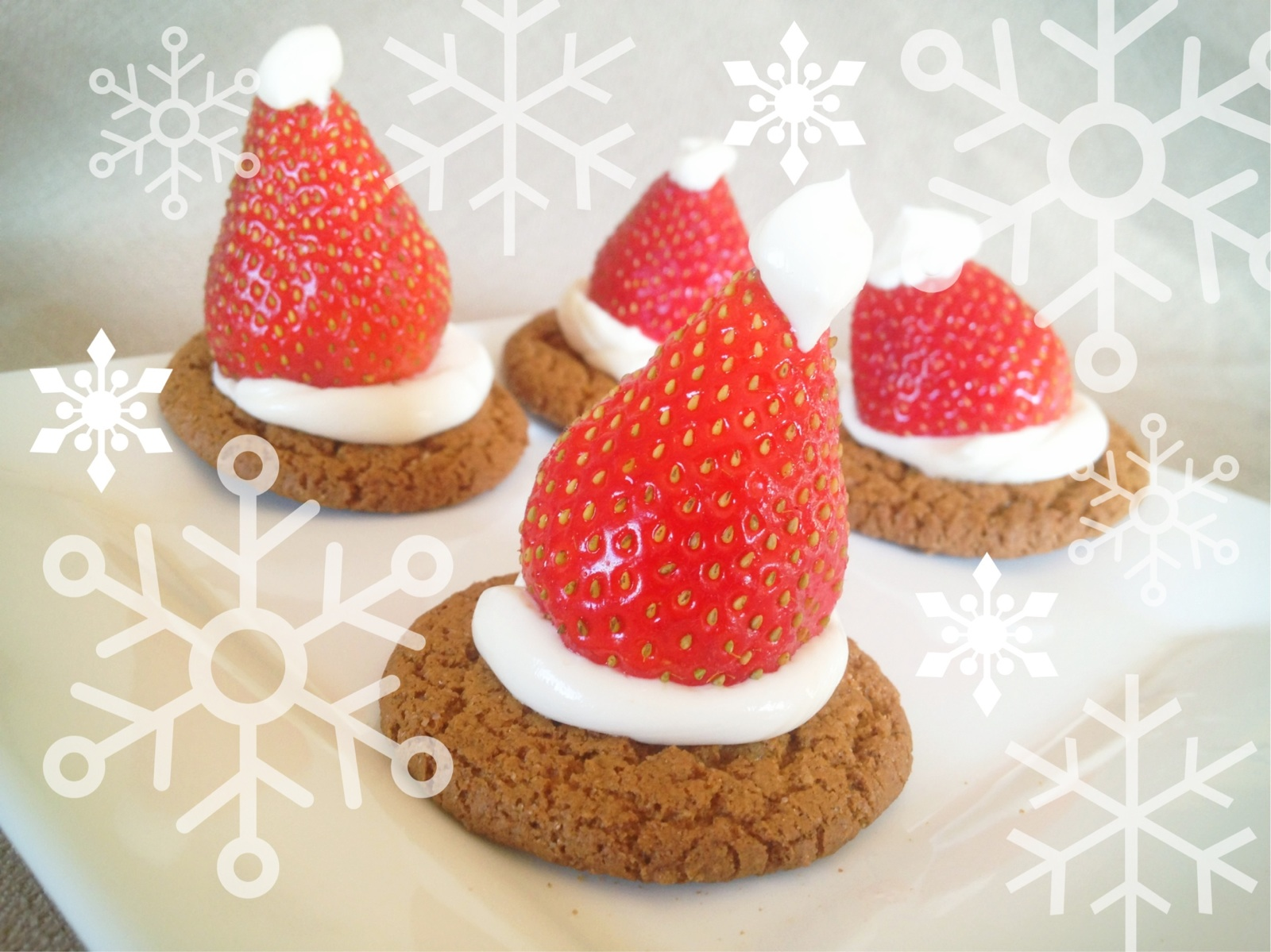 how to make strawberry santa hats
