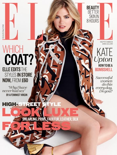 Kate Upton by Matt Jones for Elle Magazine, UK, September 2014