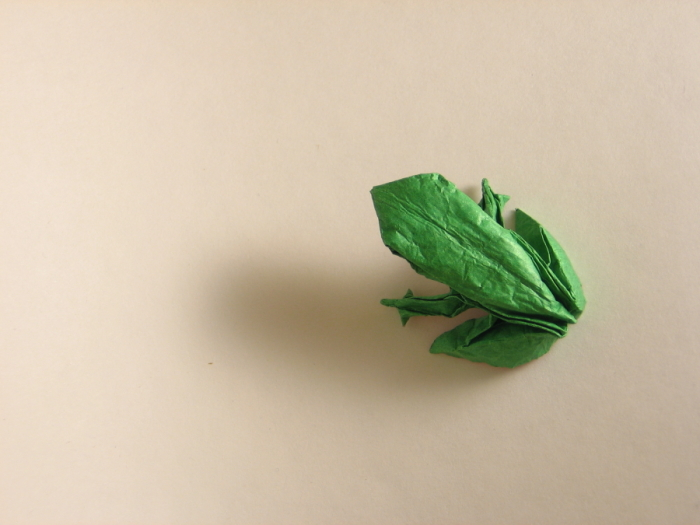 family strong origami frog