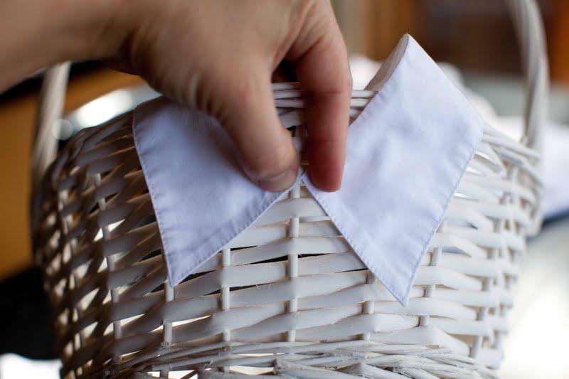 Decoracion De Baños Para Bodas:cuello de la camisa a la canasta para boda debido a que el cuello es