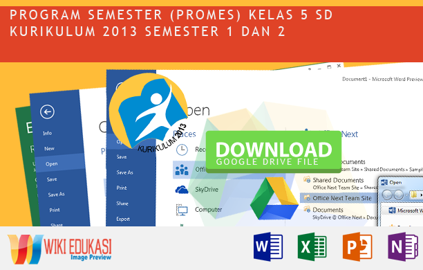 Program Semester KELAS 5 KURIKULUM 2013 Hasil Revisi Terbaru 2015