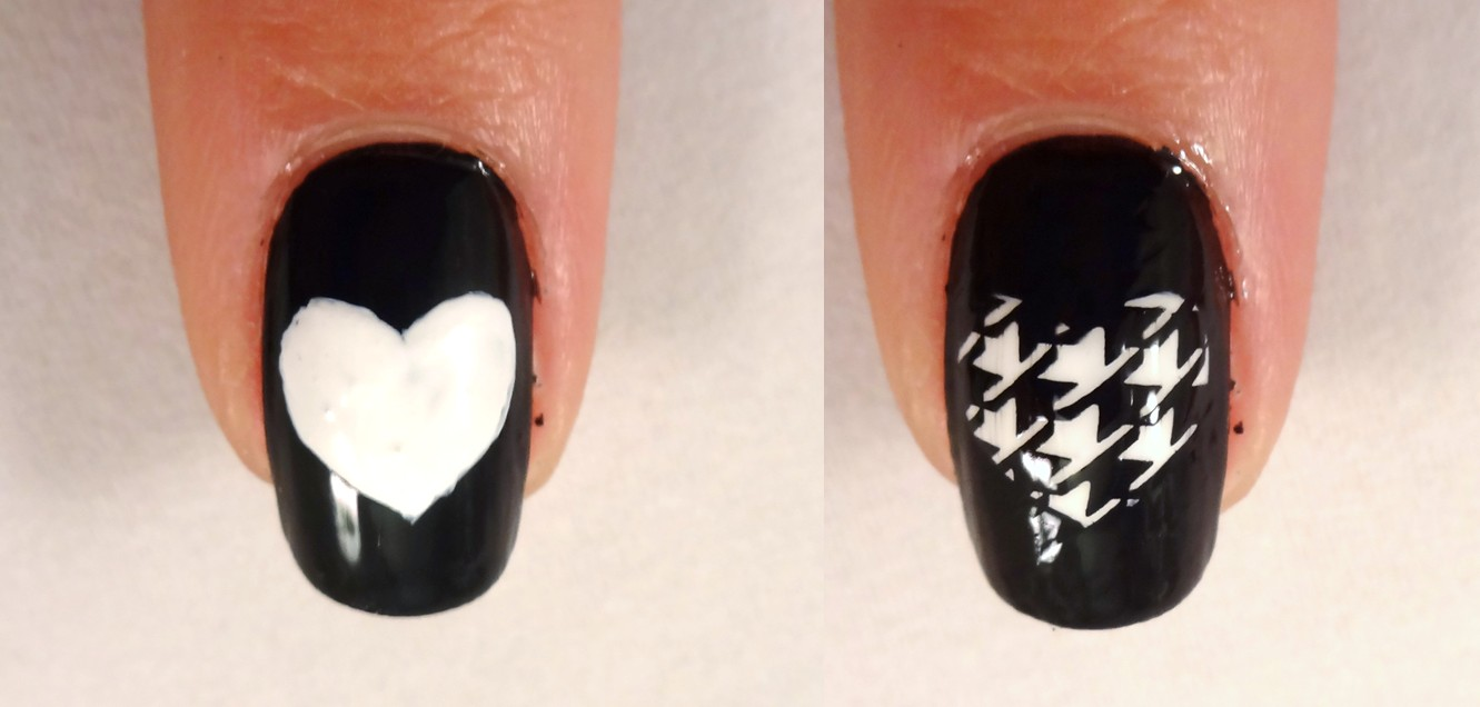 Herringbone Heart Nail