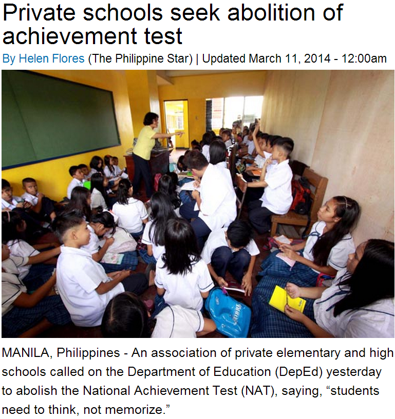 philippines the national achievement test Manila, philippines - the national achievement test (nat) for grade 3, grade 6 and second year high school students is scheduled on march 2010, the department of.