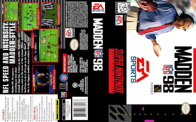Capa Madden NFL 98 Super Nintendo