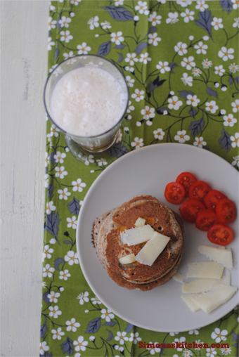 Simona'sKitchen: Pancakes al Grano Saraceno con Pecorino e Birra - Buckwheat Pancakes with Pecorino Cheese and Beer