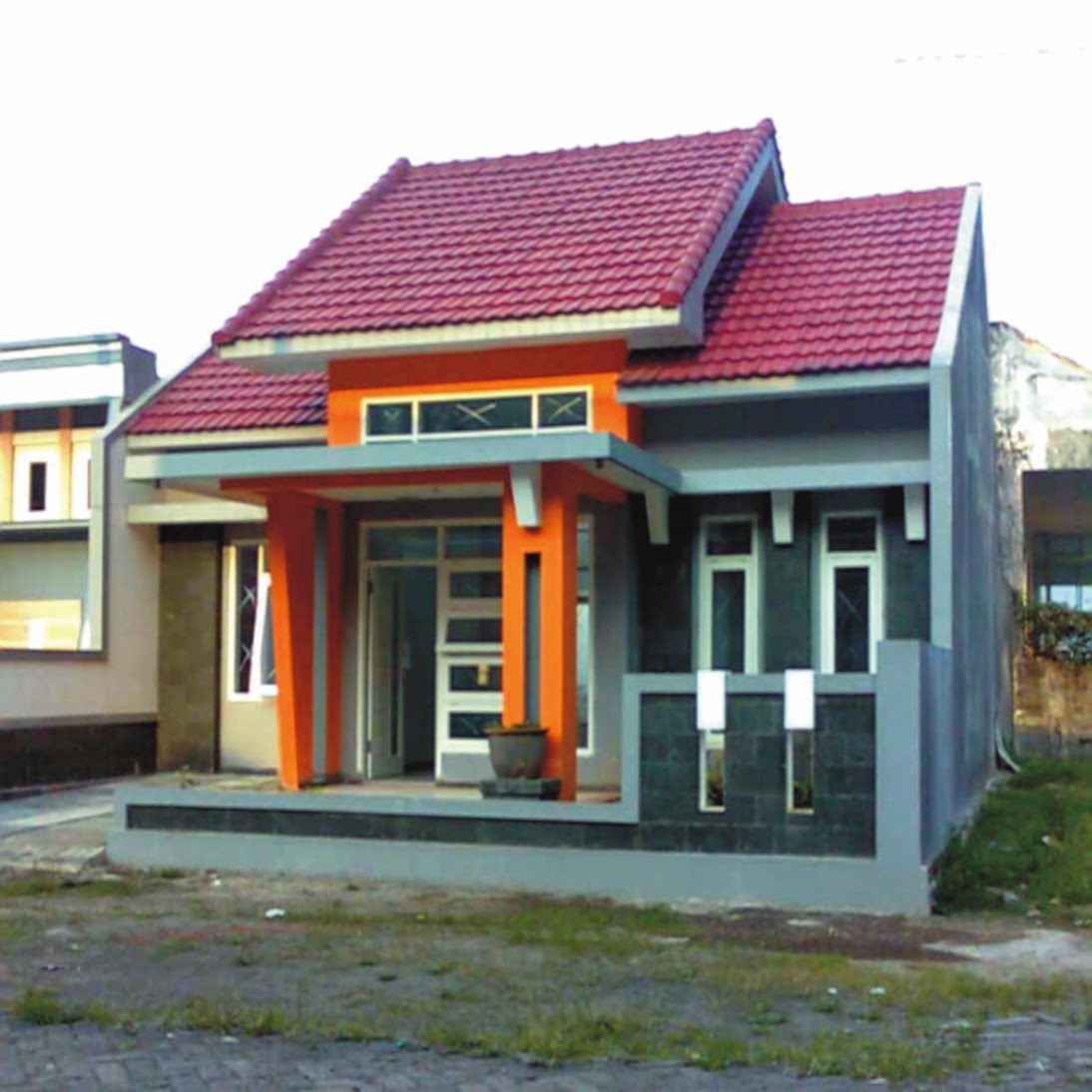 Denah Dan Desain Rumah Sederhana Minimalis Tampak Modern Rumah
