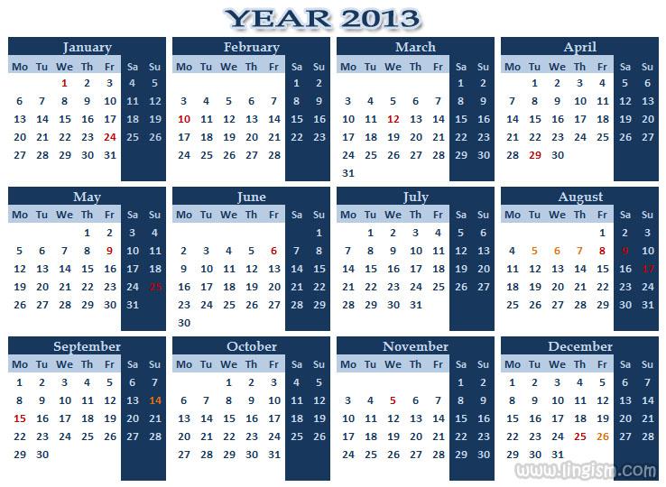 Kalender 2013-