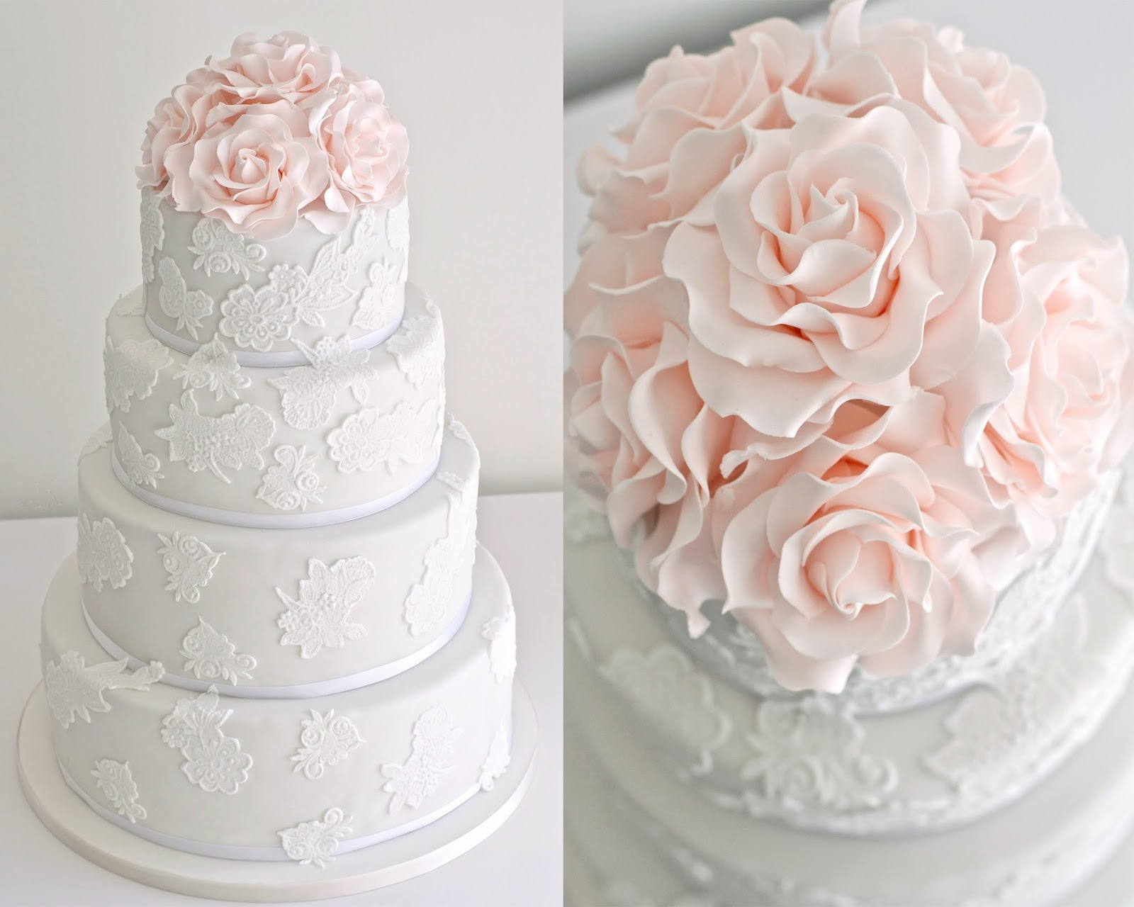 Wedding Cake Roses White