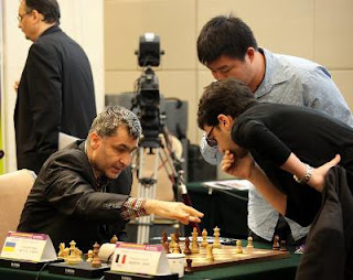 Laurent Fressinet au Jeux Mondiaux de l'Esprit 2012 a battu Ivanchuk en blitz © site officiel