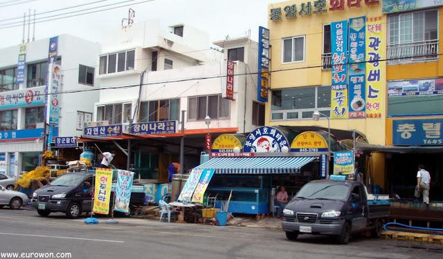 Tiendas en Tongyeong