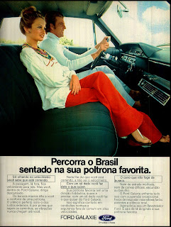 propaganda Ford Galaxie - 1973, brazilian advertising cars in the 70s; os anos 70; história da década de 70; Brazil in the 70s; propaganda carros anos 70; Oswaldo Hernandez;