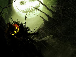 scary moon face halloween wallpaper