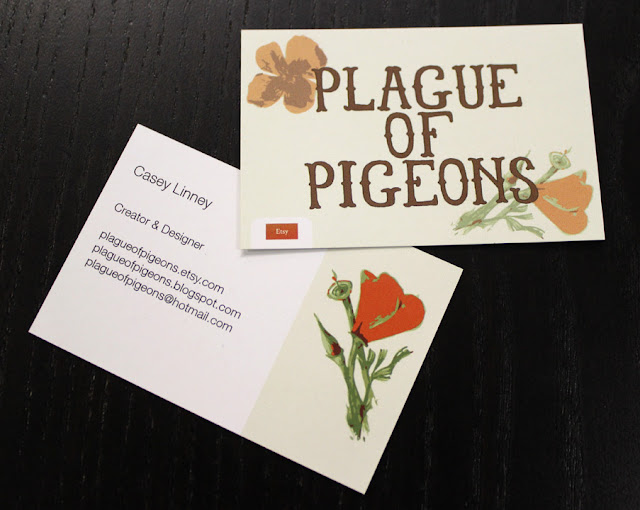 plague of pigeons moo business cards