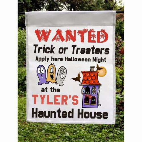 personalized haunted house custom halloween flag