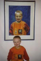 Jongetje voor zijn portret