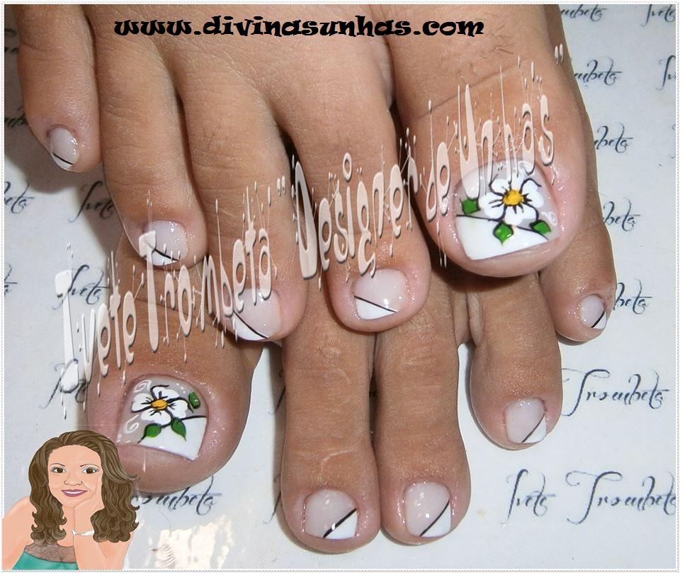 Decoracion de u as de los pies con flores bonitas for Decoracion unas pies