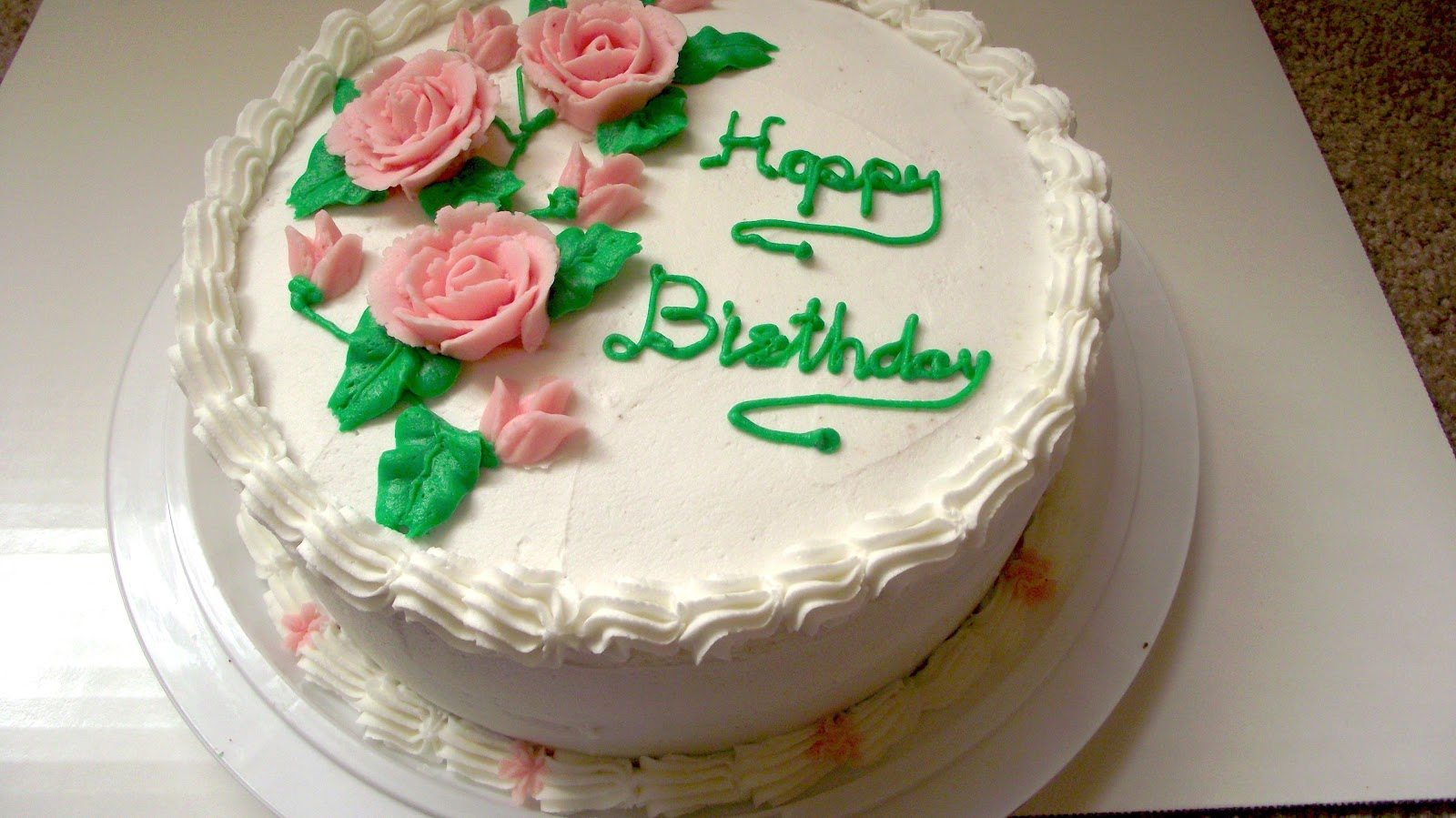 Birthday Cake Ideas Using Buttercream : FUN SUGAR COOKIES: Buttercream Birthday cake USD35