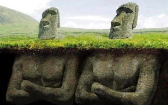 An Amazing Discovery Found Underneath The Easter Island Heads!