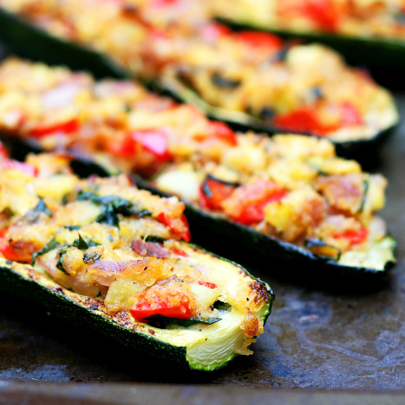 Stuffed Zucchini Boats – The Smart Cookie
